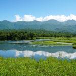 知床五湖一湖と知床連山