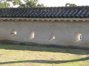 姫路城城壁の挾間